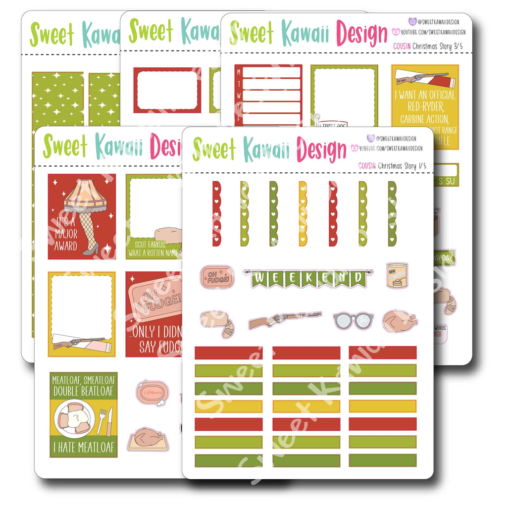 Kawaii Christmas Story Deco Stickers