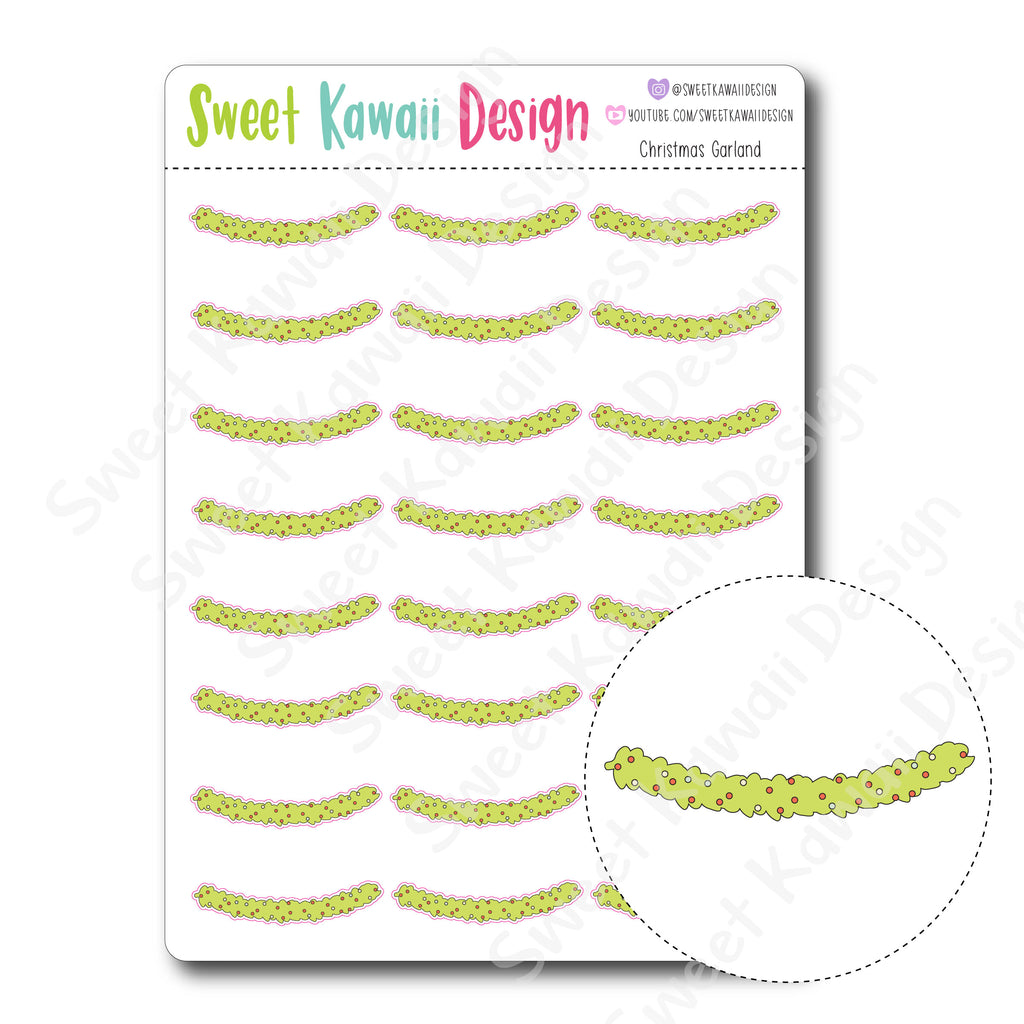 Kawaii Christmas Garland Stickers