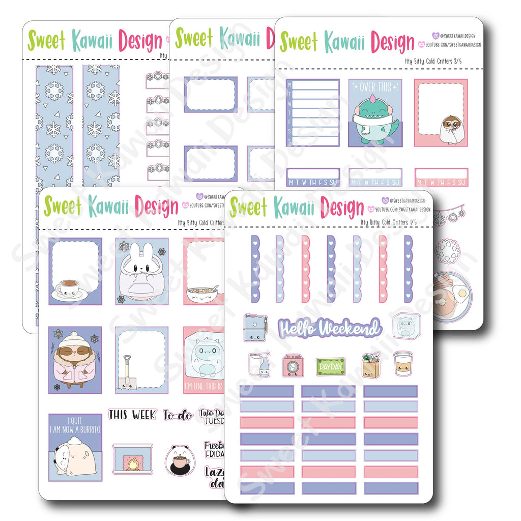 Weekly Kit  - Cold Critters ITTY BITTY