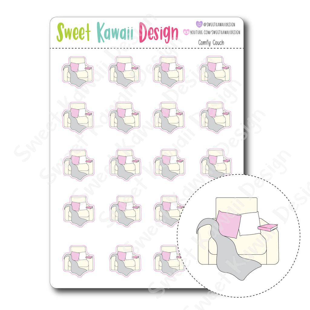 Kawaii Comfy Couch Stickers