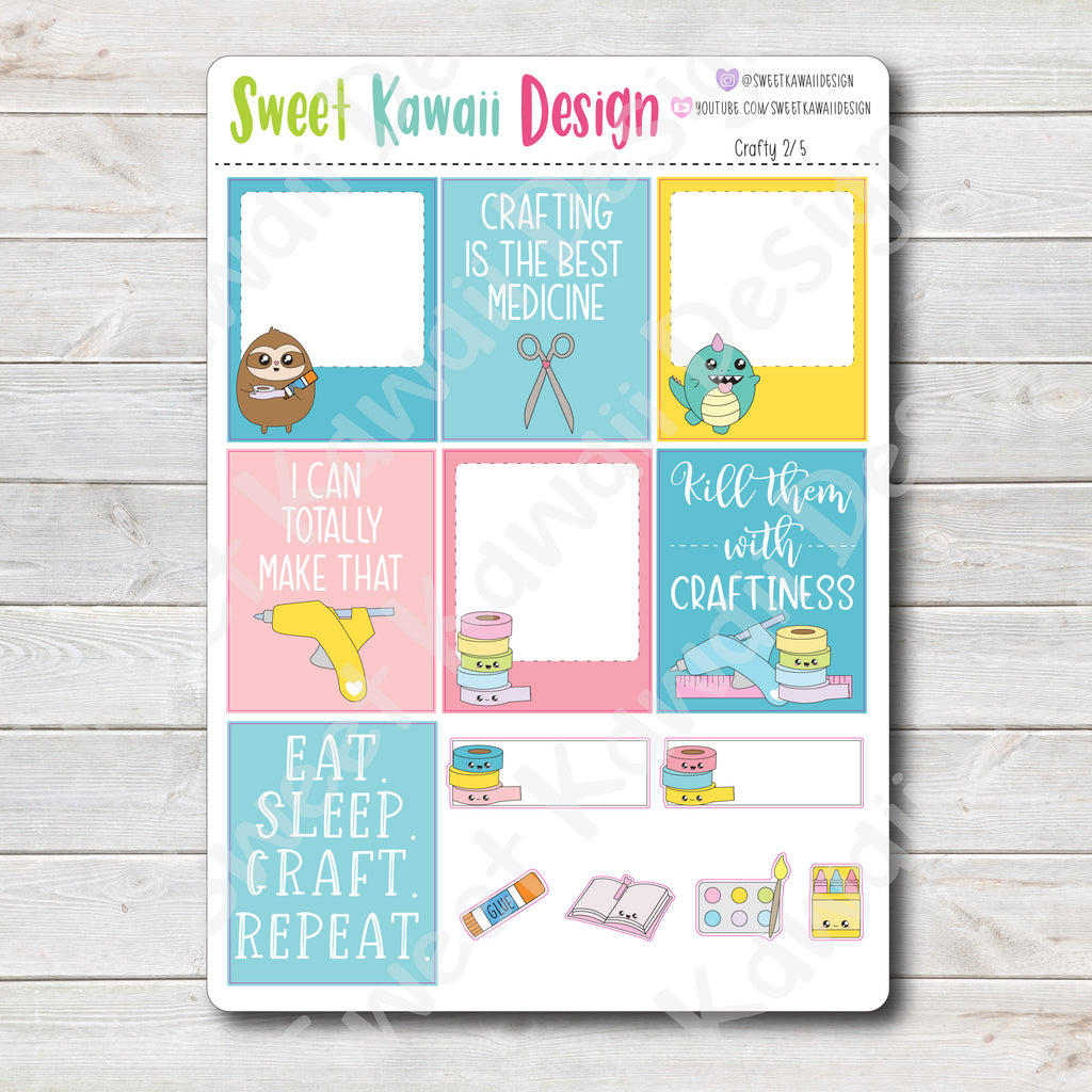 Kawaii Plan With Me - Crafty HORIZONTAL