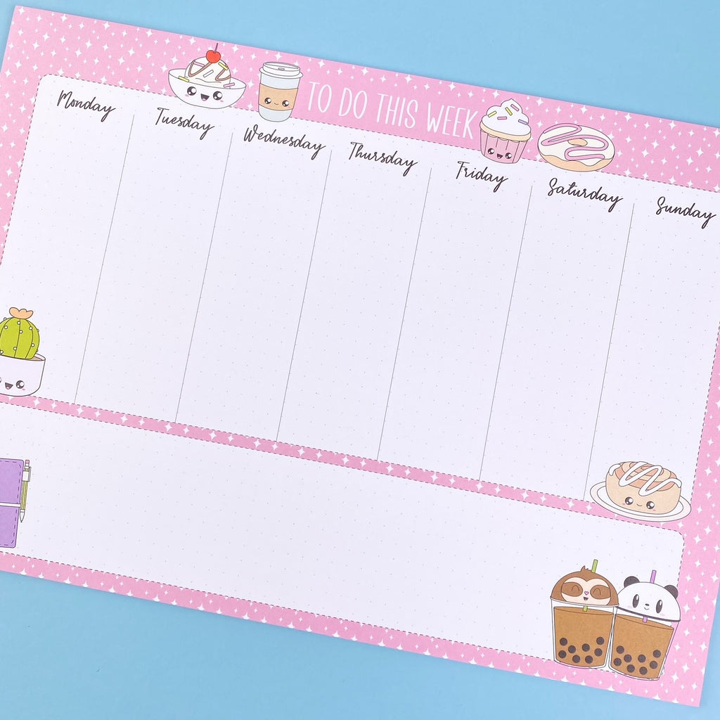 A4 Desk Pad - Kawaii Things