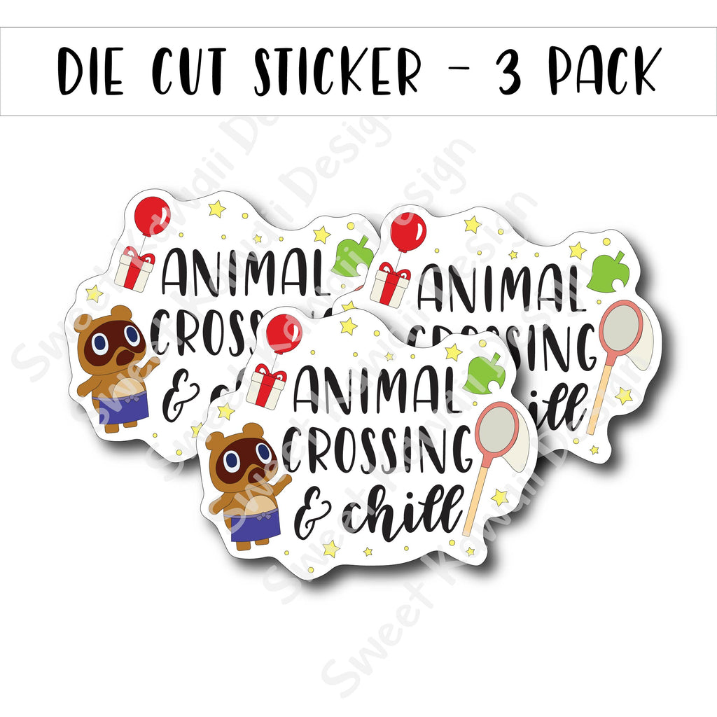 Kawaii AC and Chill Diecut Sticker Set