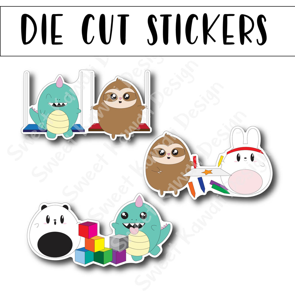 Kawaii Critters Playdate Diecut Sticker Set