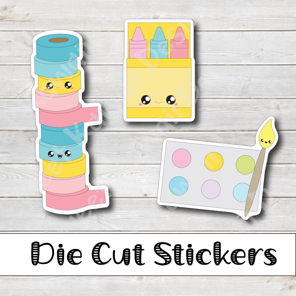Kawaii Crafty Diecut Sticker Set