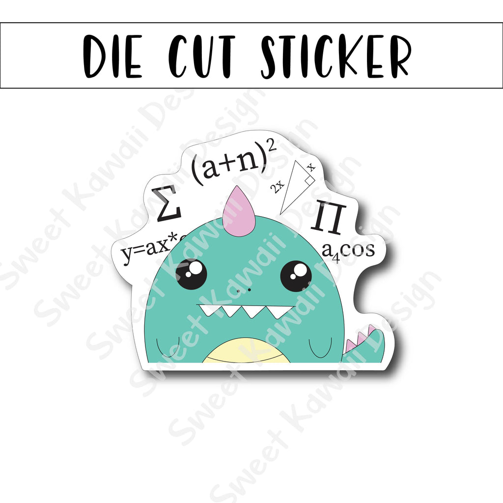 Kawaii Confused George Die Cut Sticker