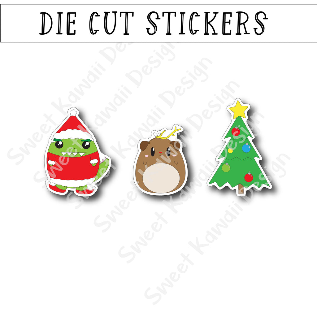 Kawaii Grinched Diecut Sticker Set