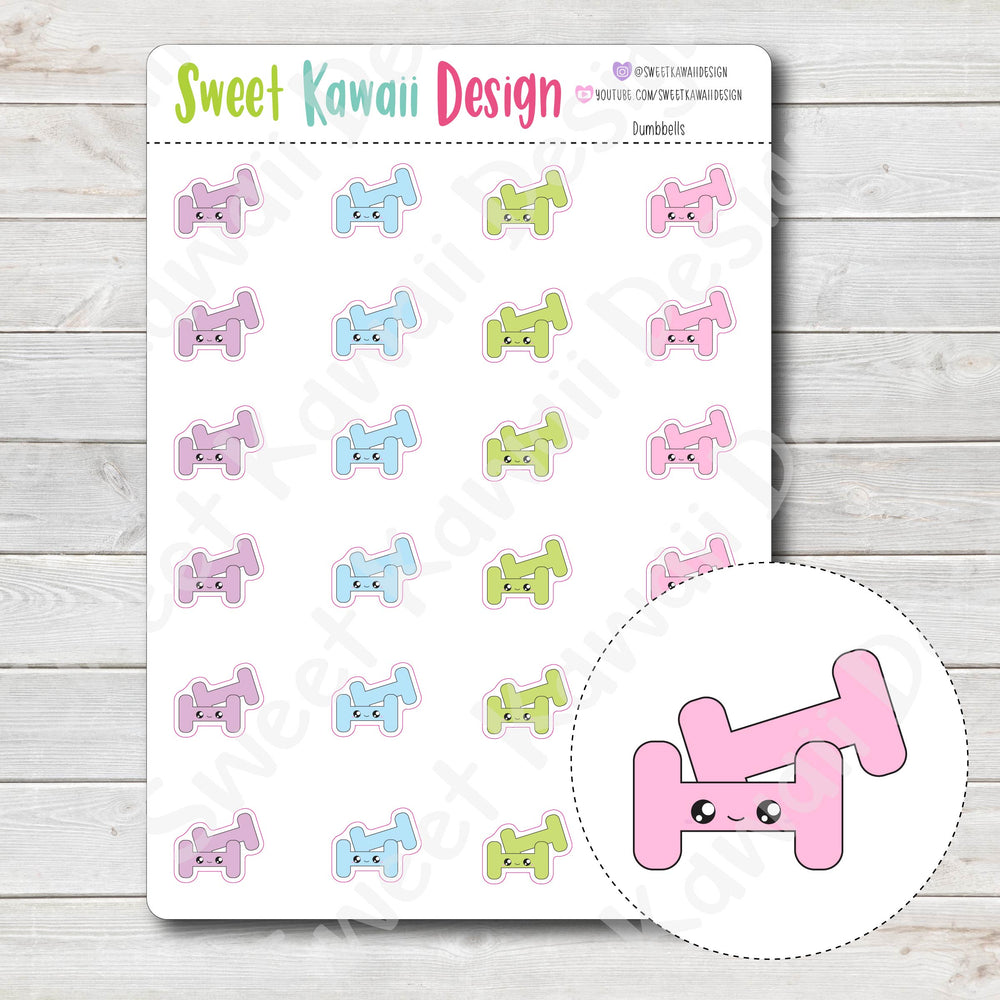Kawaii Dumbbell Stickers