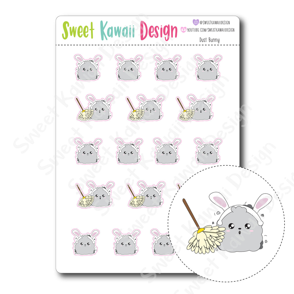 Kawaii Dust Bunny Stickers