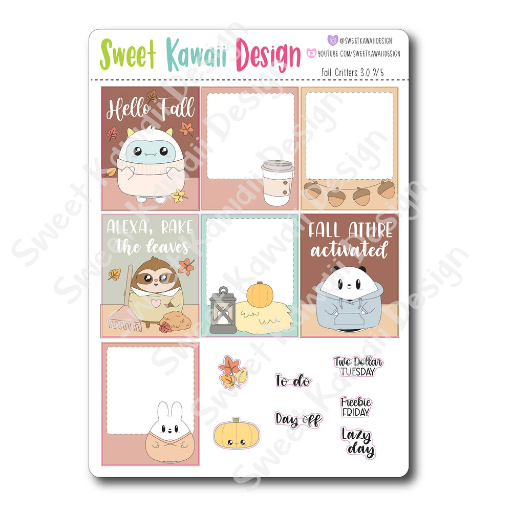 Weekly Kit  - Fall Critters HORIZONTAL