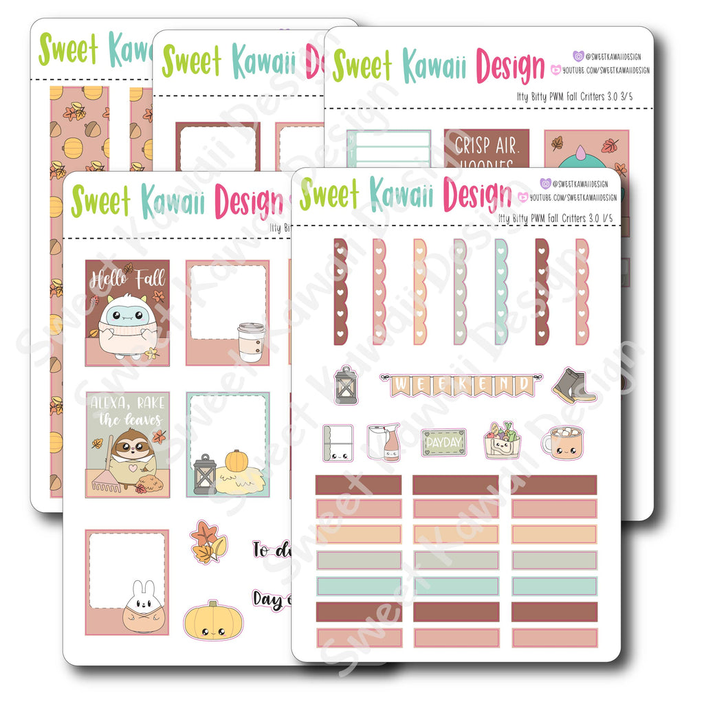 Weekly Kit  - Fall Critters ITTY BITTY