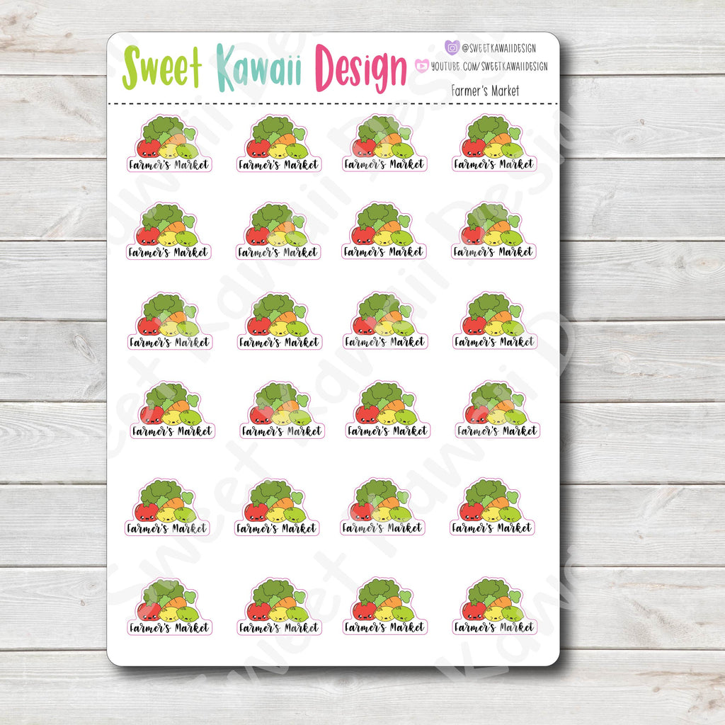 Kawaii Farmer's Market Stickers