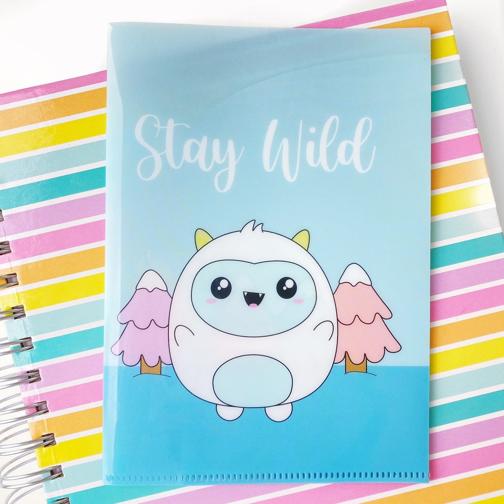 B6 Plastic Folder - Frank - Stay Wild