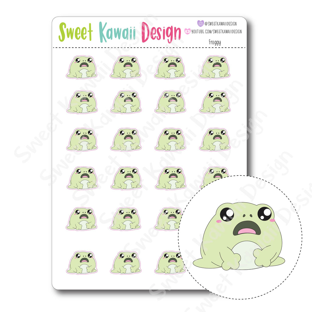 Kawaii Froggy Stickers