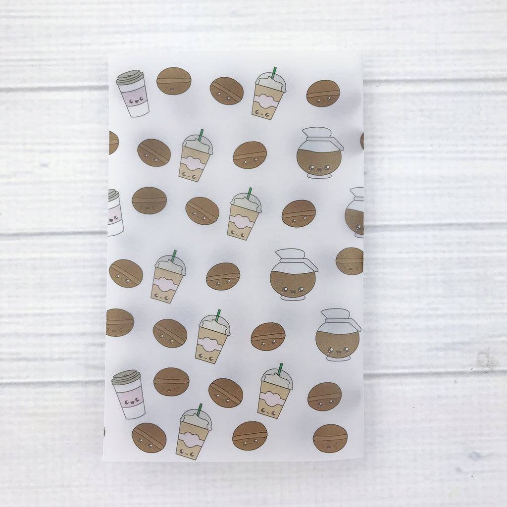 Coffee Beans Vellum Planner Dashboard