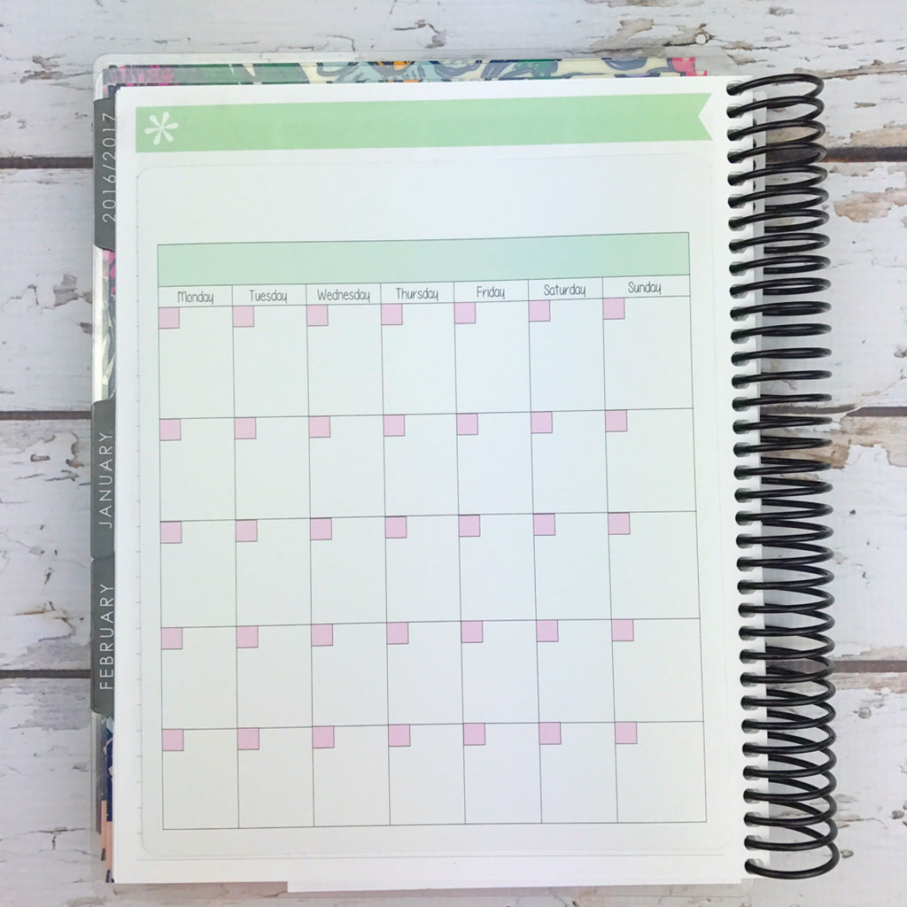 Kawaii Blank Monthly Sticker (jumbo)