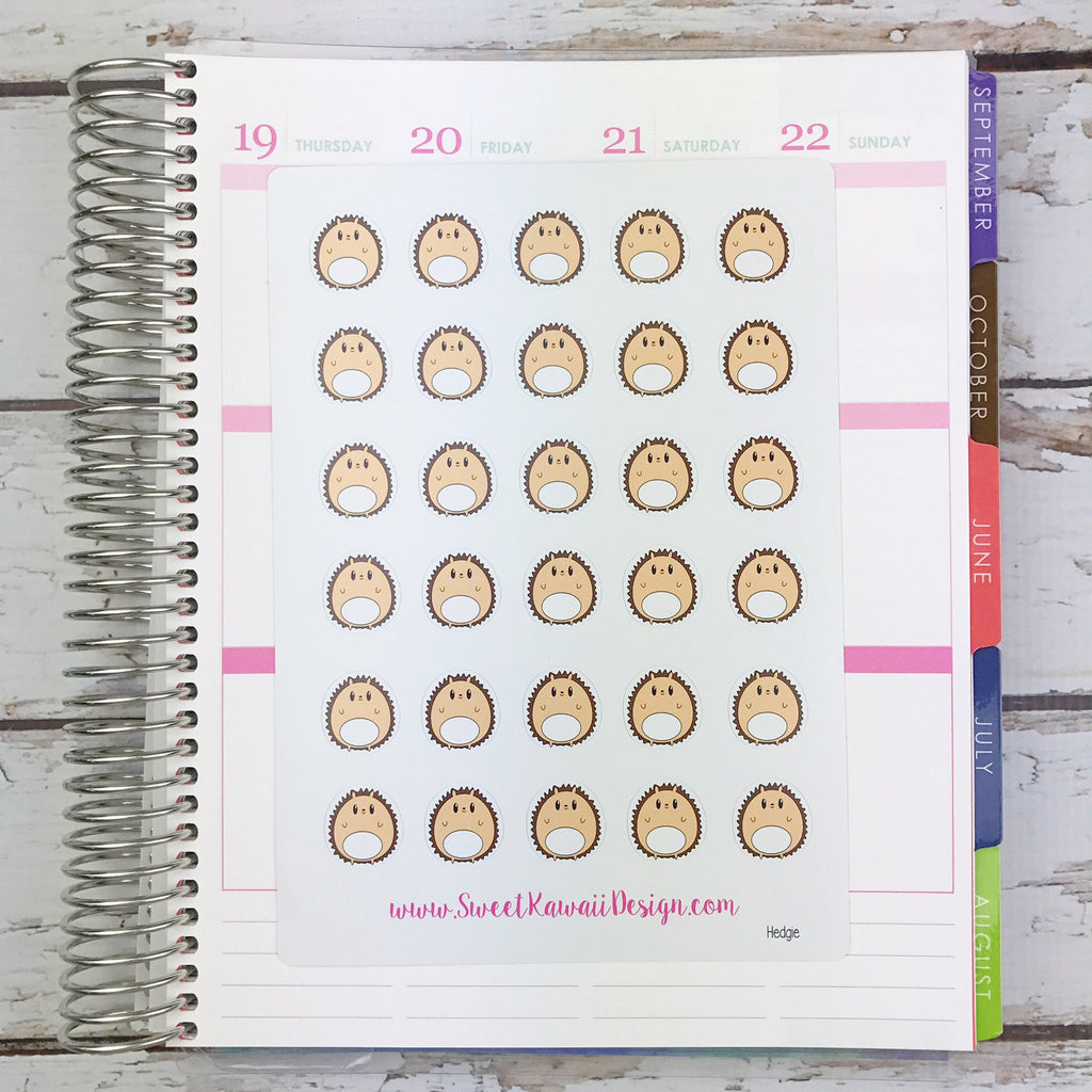 Kawaii Hedgehog Stickers