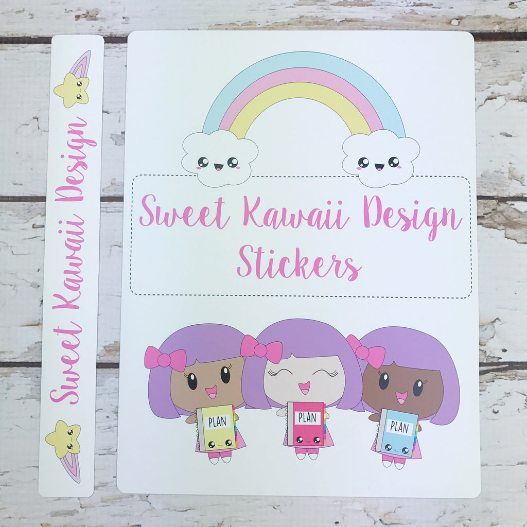 Kawaii Mini Binder Cover and Spine Inserts (BINDER NOT INCLUDED)
