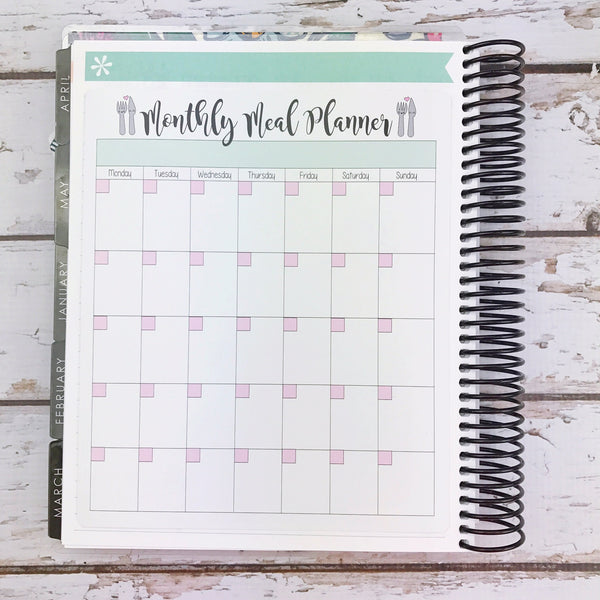 Kawaii Monthly Meal Planner Sticker (jumbo)