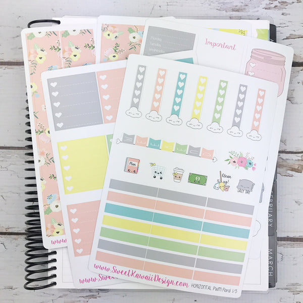 Kawaii Plan With Me - Floral Pink HORIZONTAL