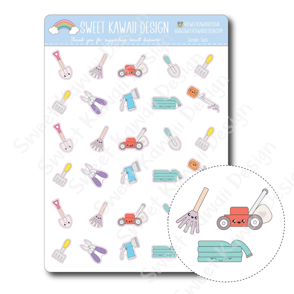 Kawaii Garden Tool Stickers