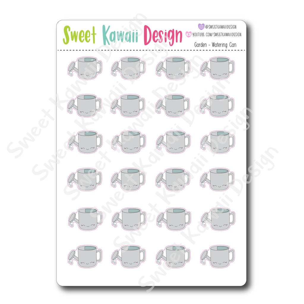 Kawaii Garden Stickers - Watering Can