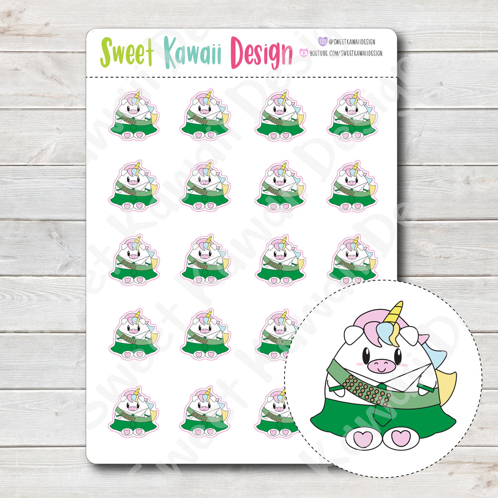 Kawaii Girl Scout Stickers