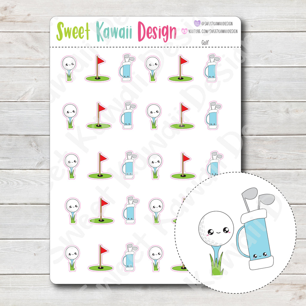 Kawaii Golf Stickers