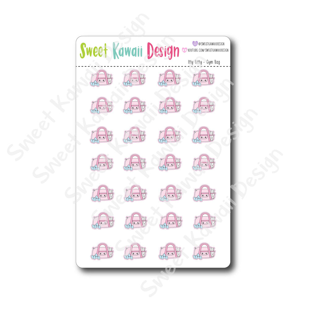 Kawaii Gym Bag Stickers