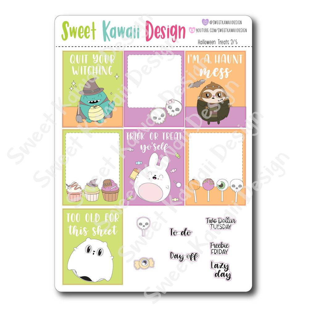 Weekly Kit  - Halloween Treats HORIZONTAL