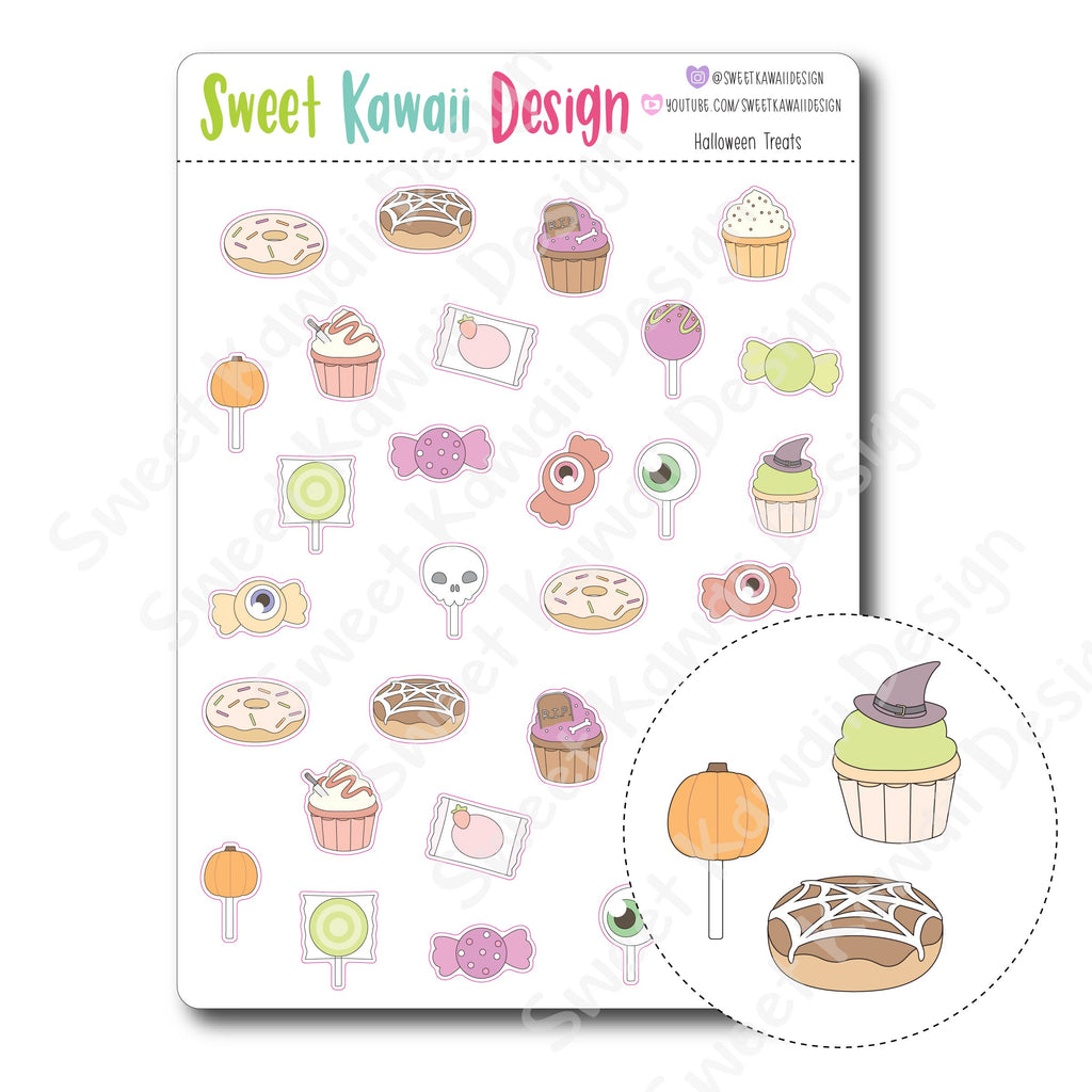 Kawaii Halloween Treat Stickers