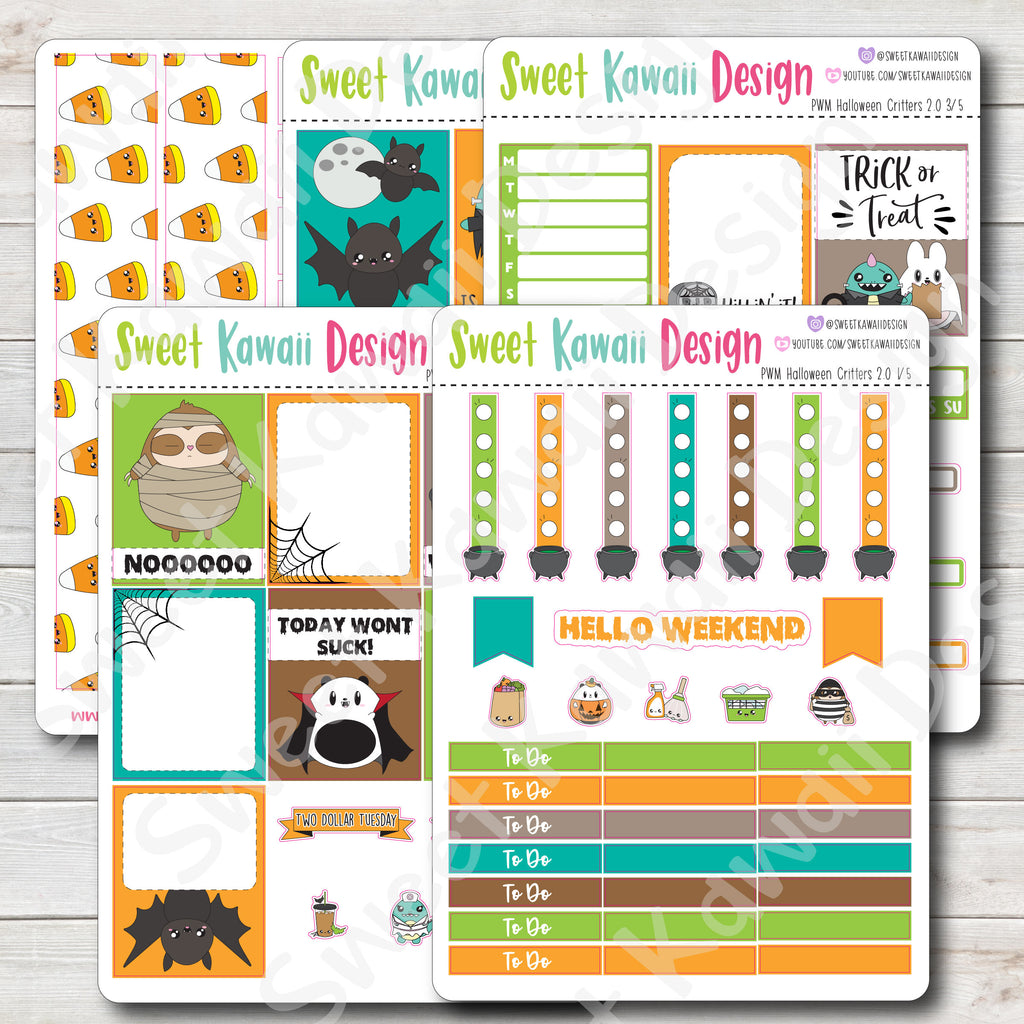 Kawaii Plan With Me - Halloween Critters 2.0