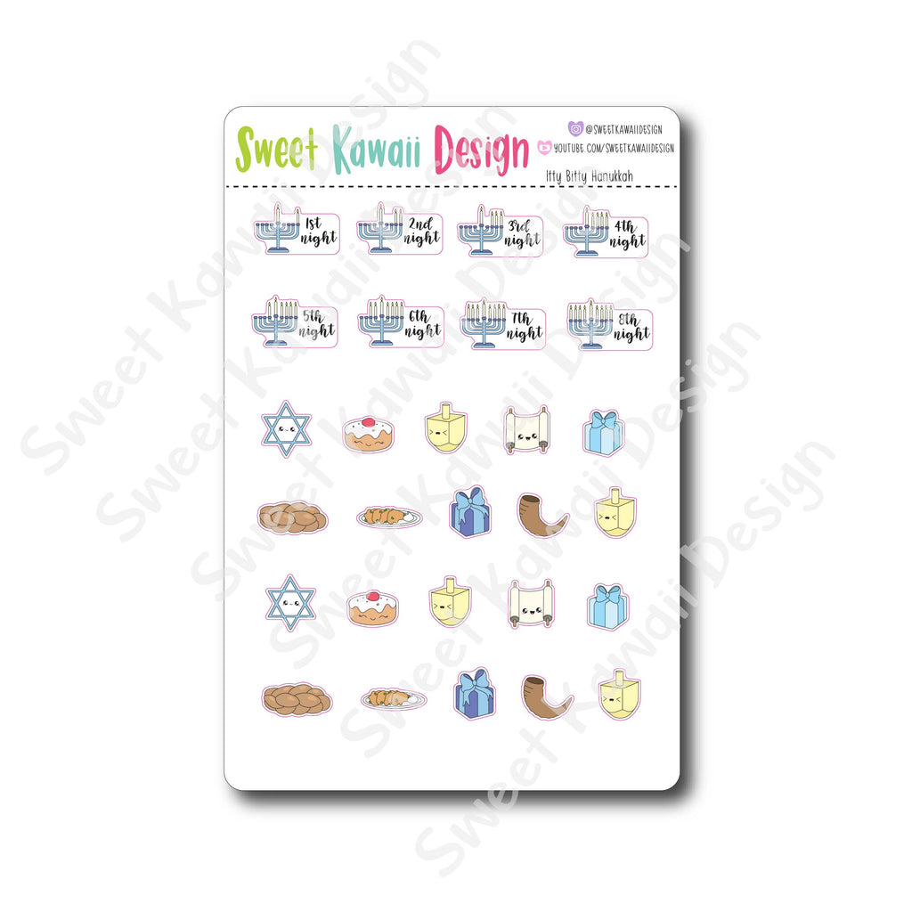 Kawaii Hanukkah Stickers