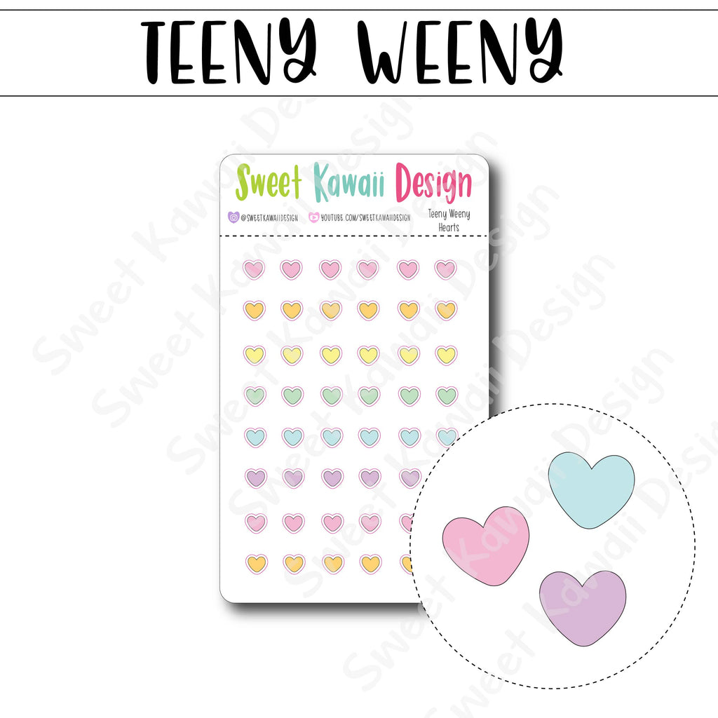 Teeny Weeny Heart Stickers