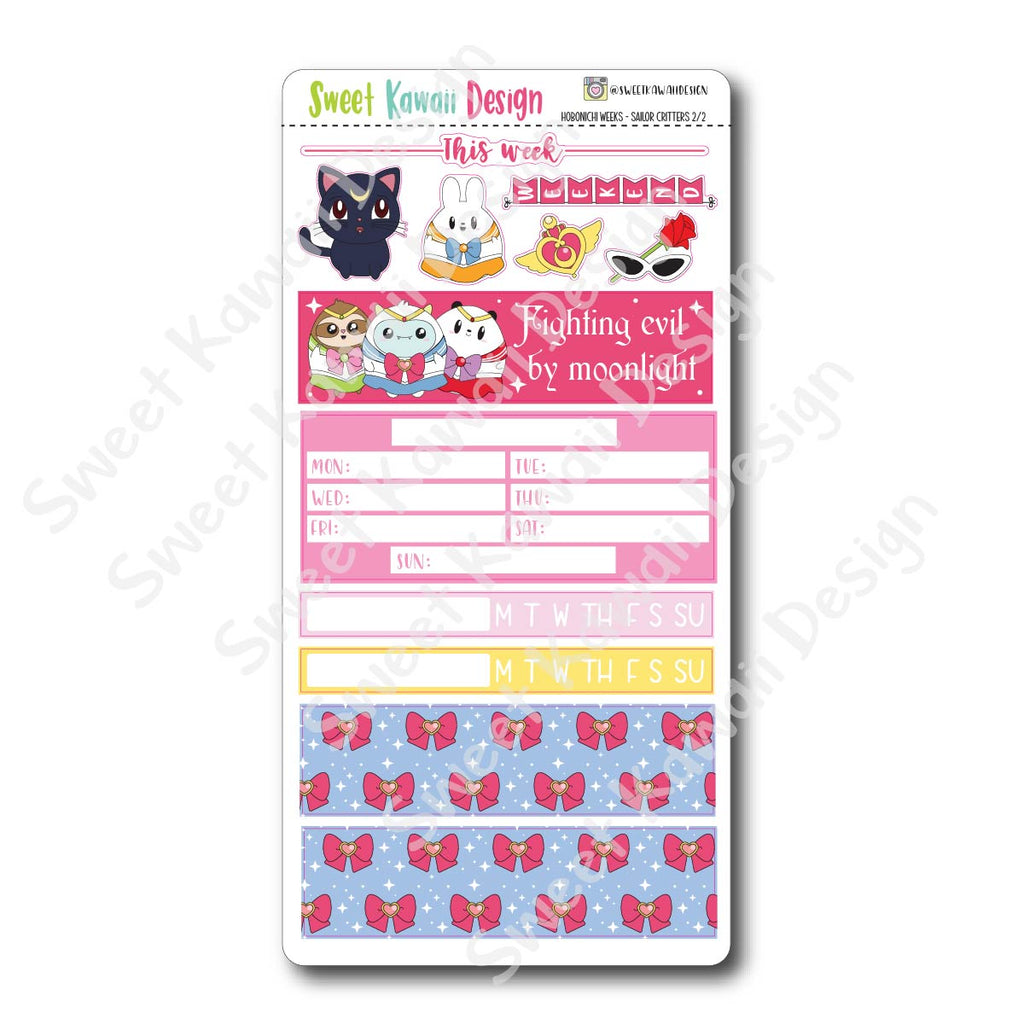 Kawaii Hobonichi Weeks Stickers - Sailor Critters
