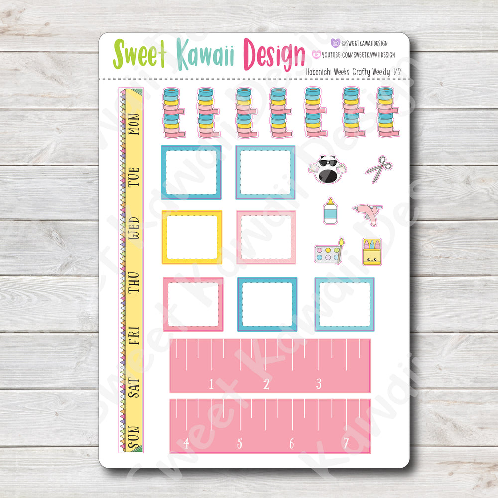 Kawaii Hobonichi Weeks Stickers - Crafty Kit