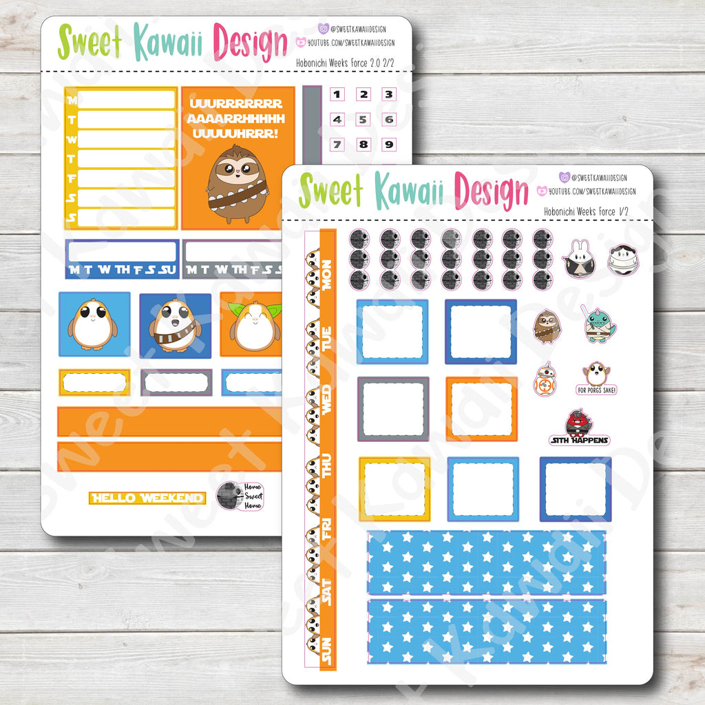 Kawaii Hobonichi Weeks Stickers - Force 2.0 Kit
