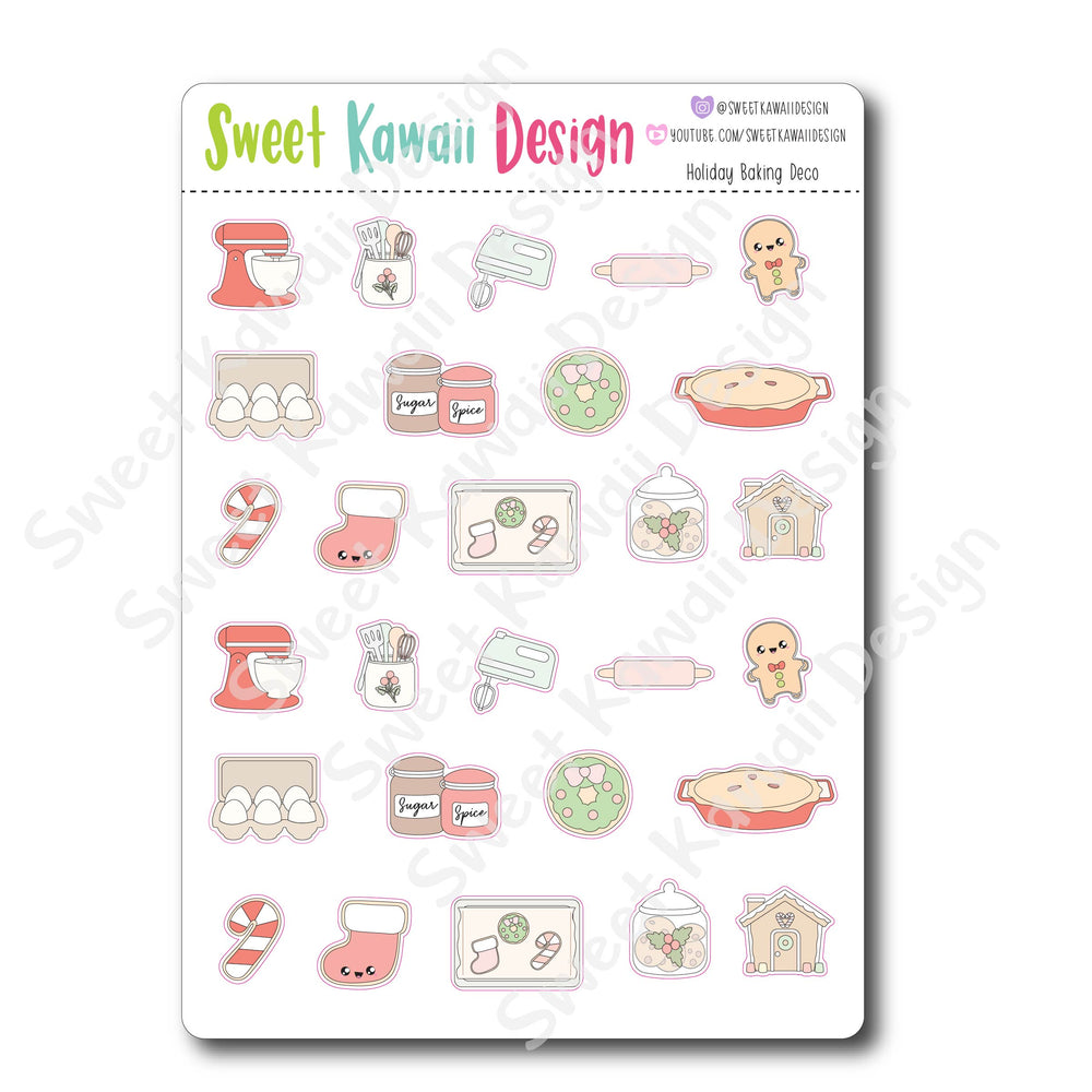 Kawaii Holiday Baking Deco Stickers