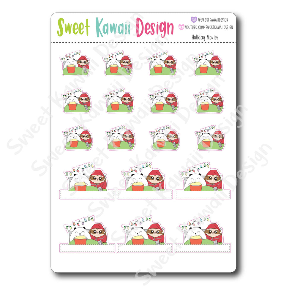 Kawaii Holiday Movie Stickers