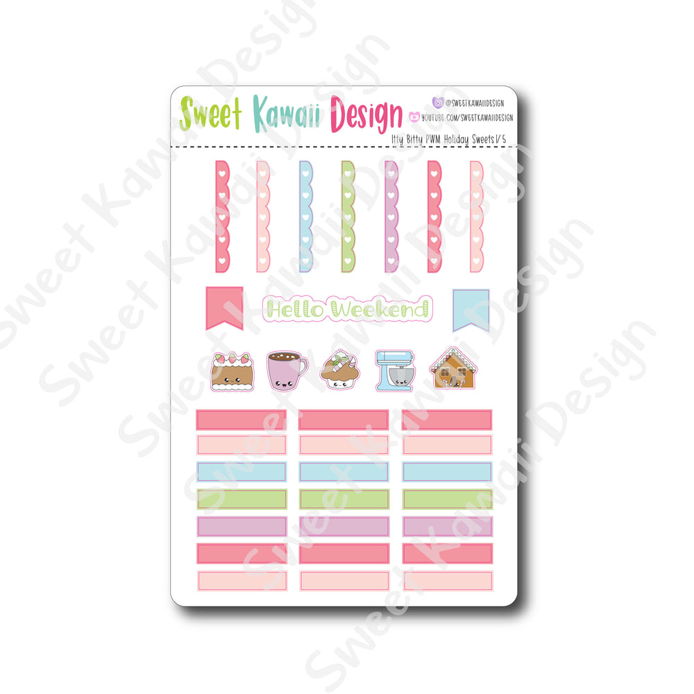 Kawaii Plan With Me - Holiday Sweets ITTY BITTY