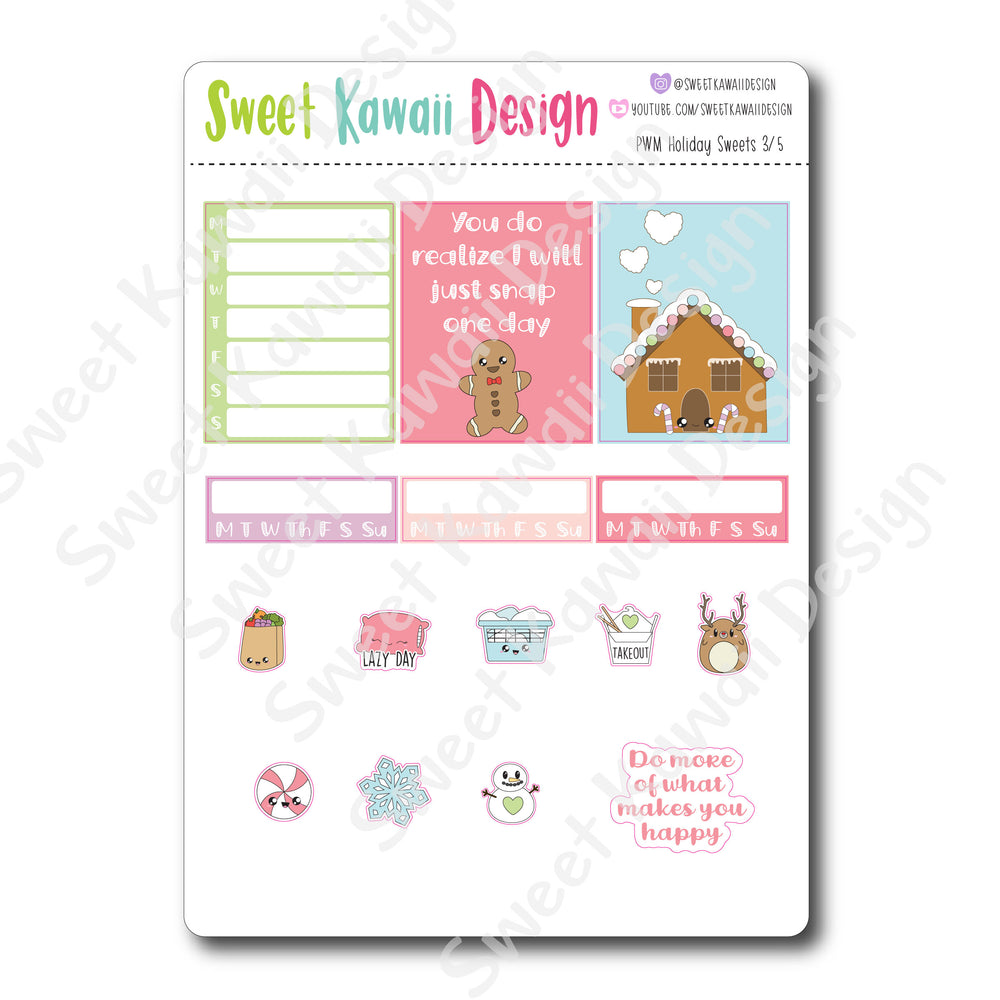 Kawaii Plan With Me - Holiday Sweets
