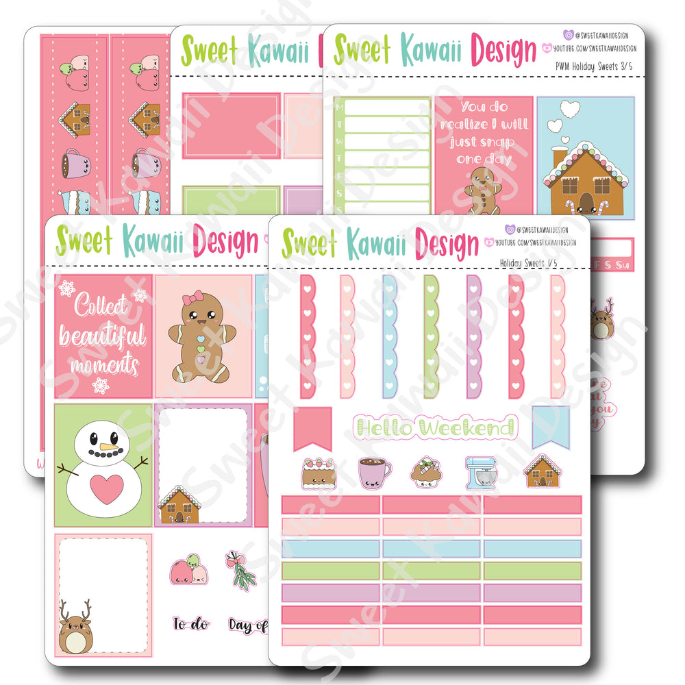 Kawaii Plan With Me - Holiday Sweets HORIZONTAL