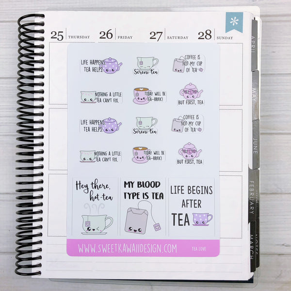 Kawaii Tea Love Stickers