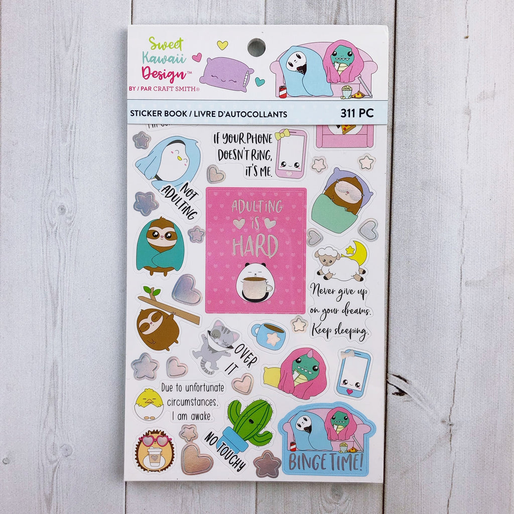 Sweet Kawaii Design Sticker Book - Introverting