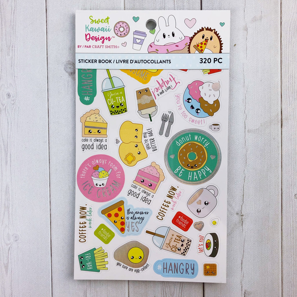 Sweet Kawaii Design Sticker Book - Foodie