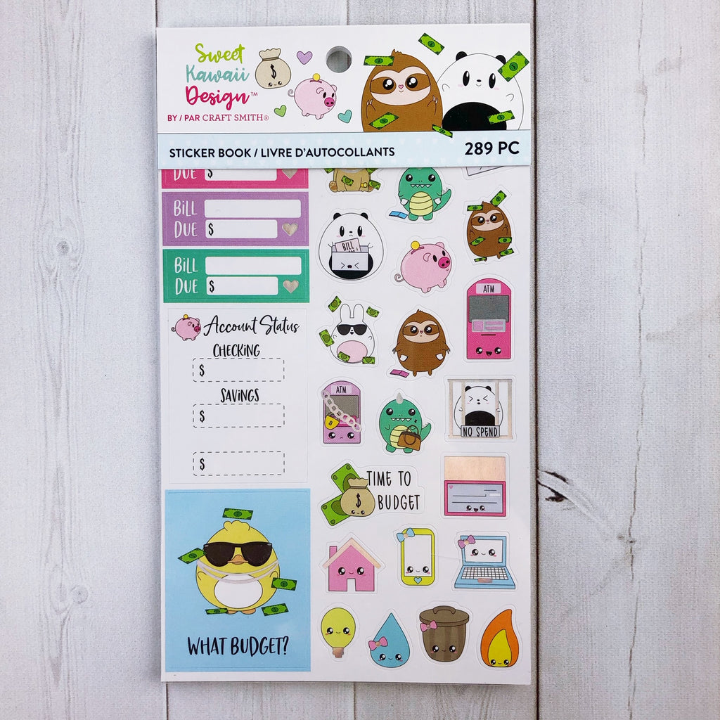 Sweet Kawaii Design Sticker Book - Budget