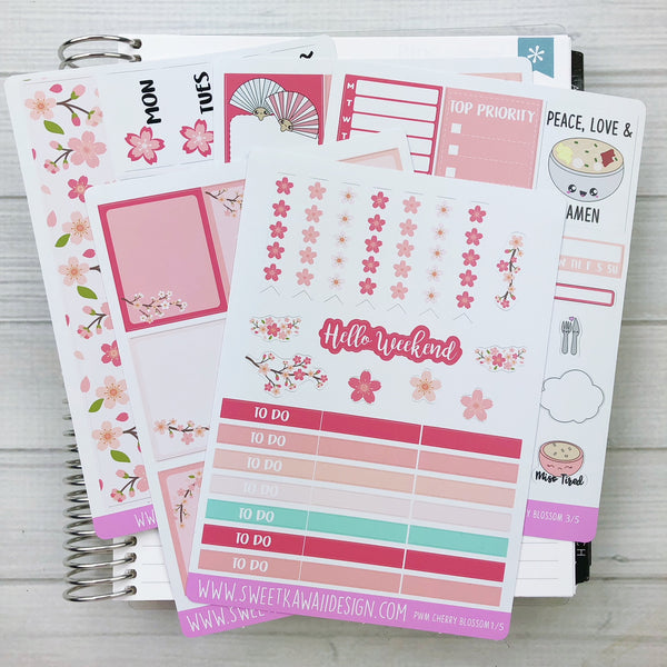 Kawaii Plan With Me - Cherry Blossoms