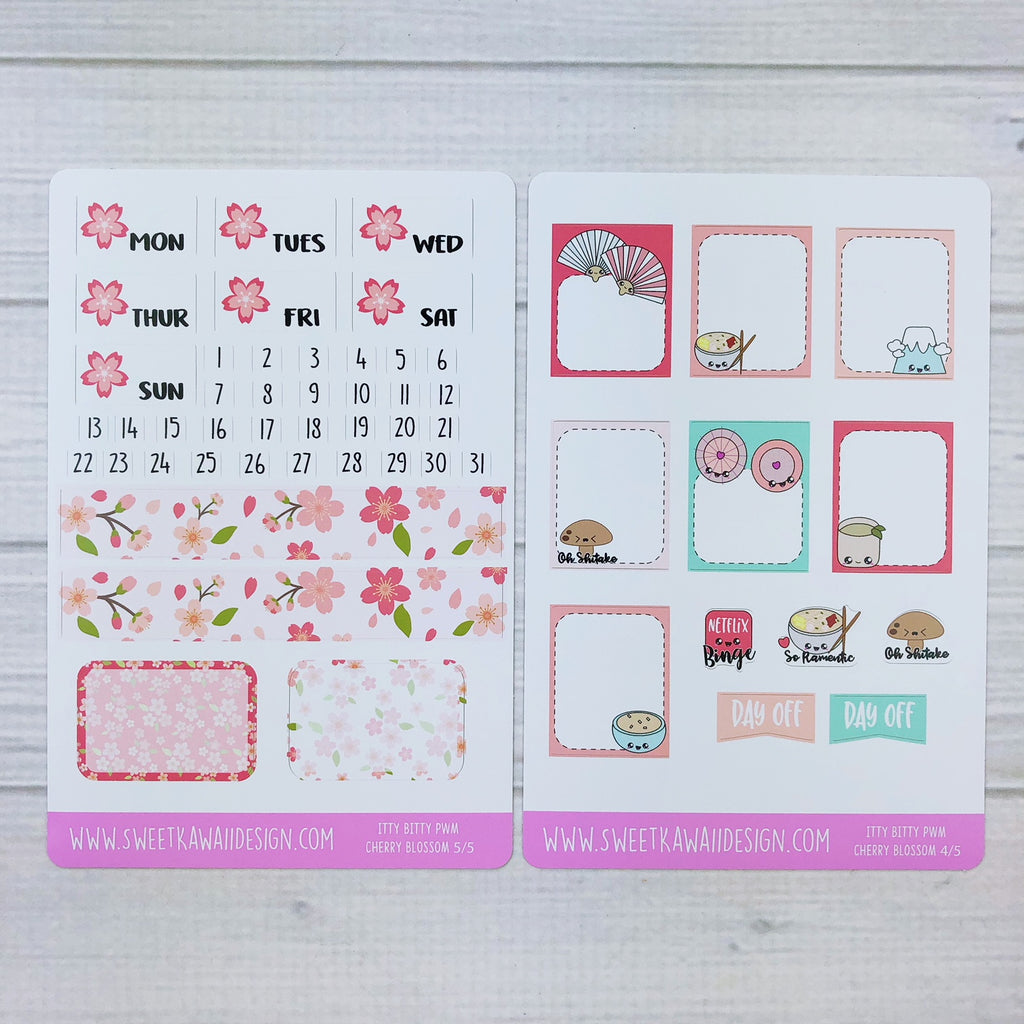 ITTY BITTY Weekly Kit  - Cherry Blossoms