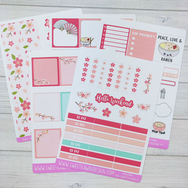 Kawaii Plan With Me - Cherry Blossoms HORIZONTAL