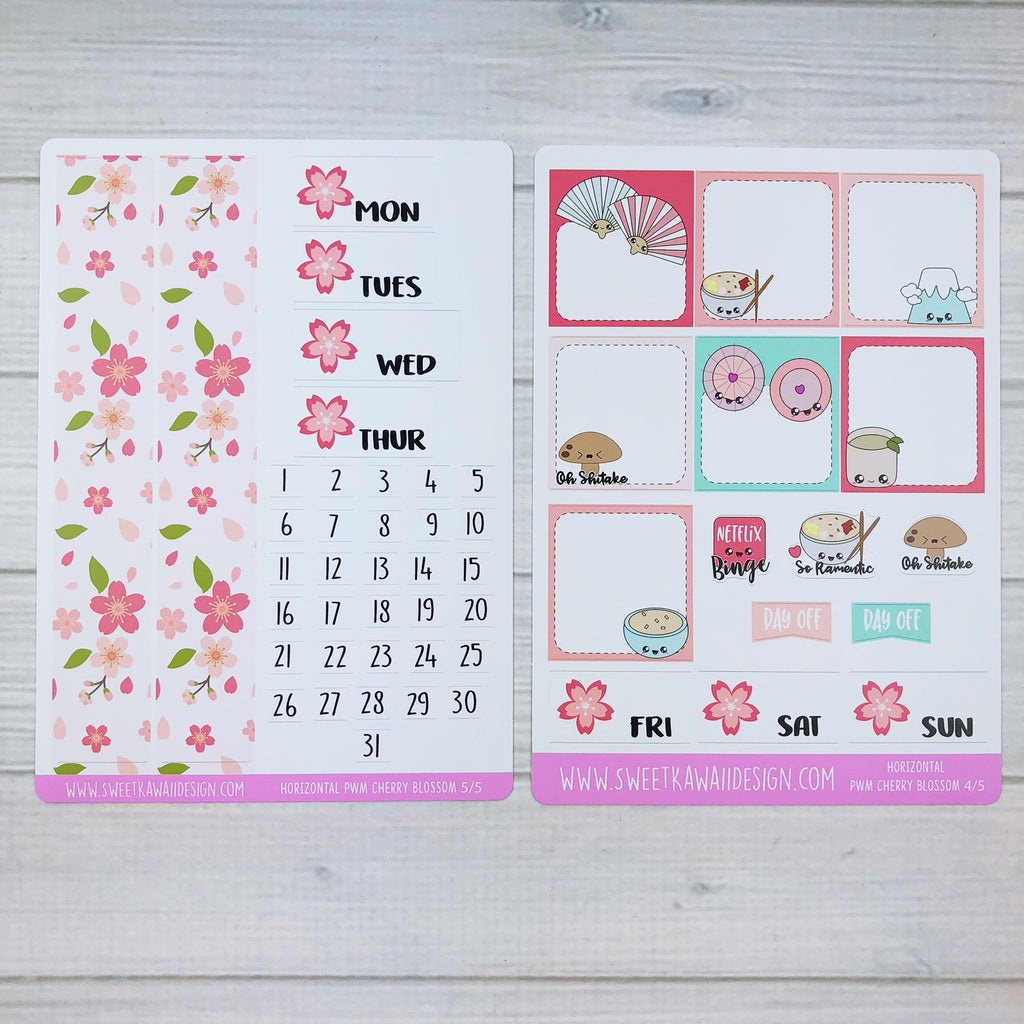 Weekly Kit  - Cherry Blossoms HORIZONTAL